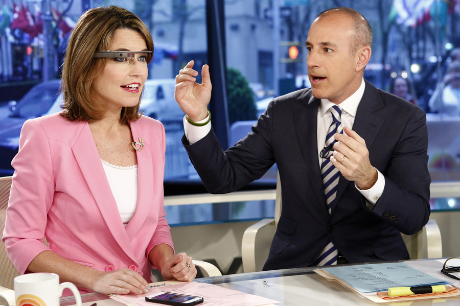"Savannah Guthrie and Matt Lauer appear on NBC News' ""Today"" show on April 30, 2013."