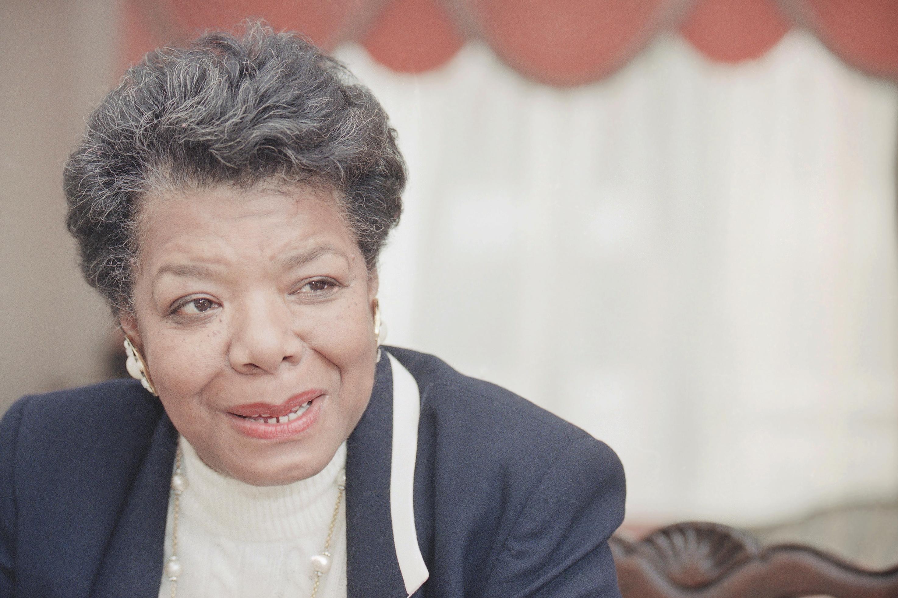 American poet and writer Maya Angelou shown on Dec. 15, 1992 in Washington.