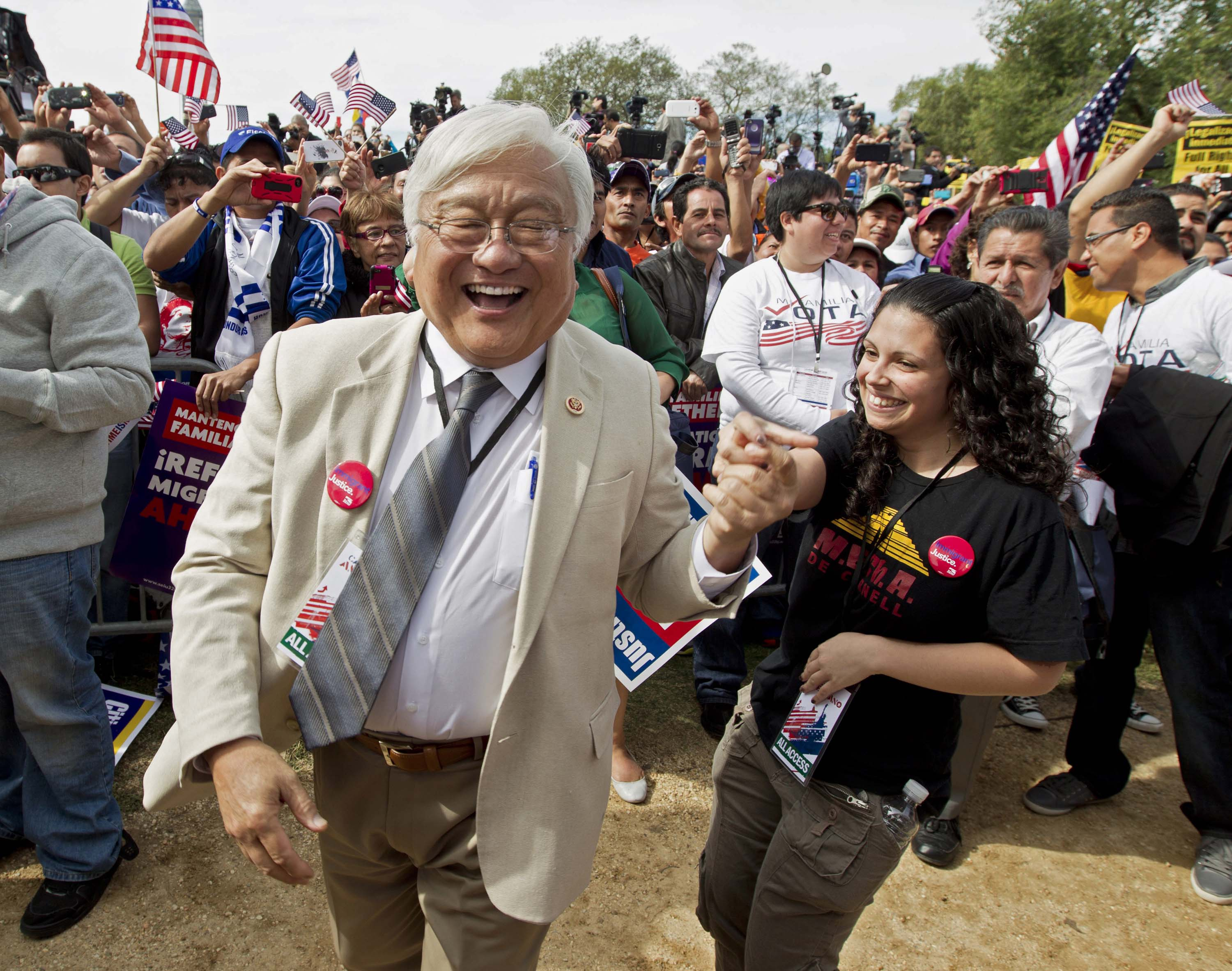 Liberal lion Mike Honda in D.C., where he has support from the Democratic establishment. He has served seven terms in Congress but faces challenges from within his own party