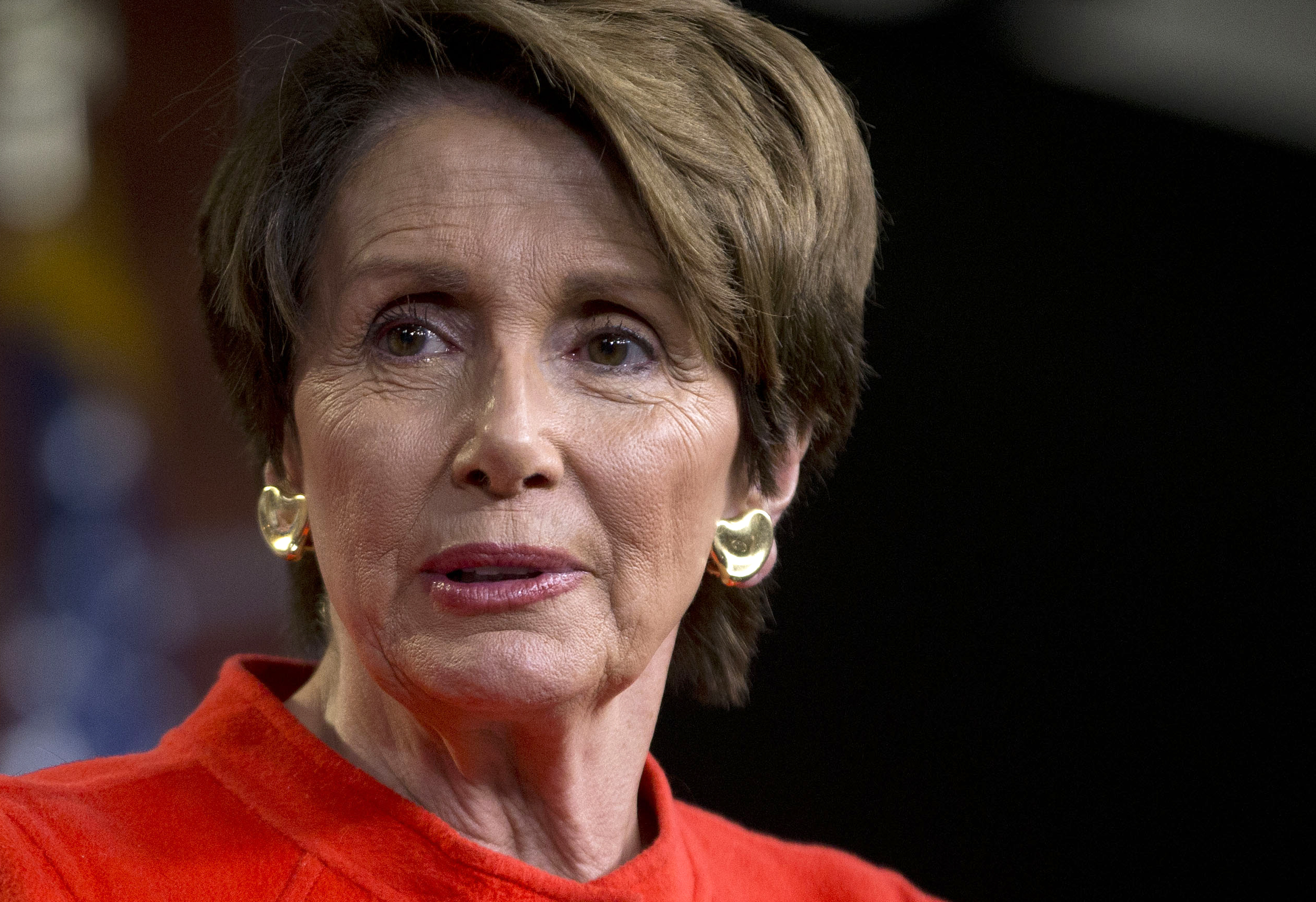 House Minority Leader Nancy Pelosi meets with reporters on Capitol Hill in Washington, D.C. on Jan. 29, 2014.