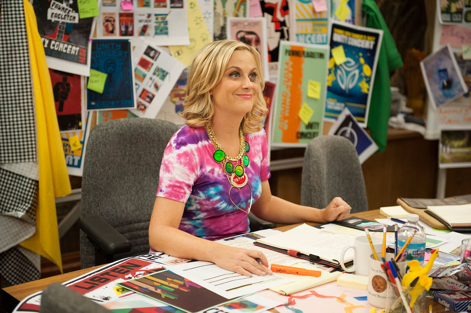Amy Poehler as Leslie Knope in season six of NBC's Parks and Recreation.