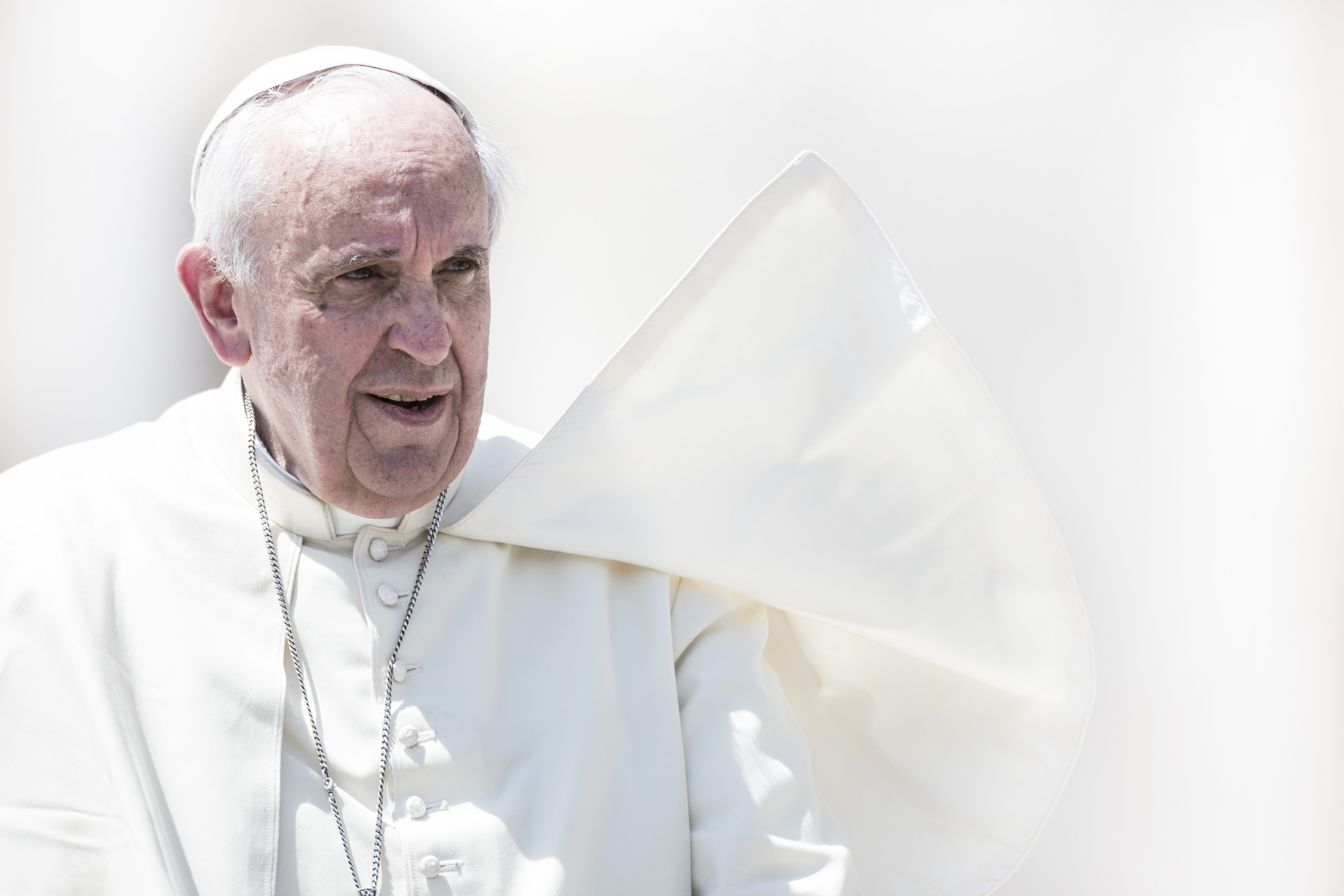 Pope Francis Leads his General weekly Audience in St. Peter's Square at the Vatican on May 21, 2014.
