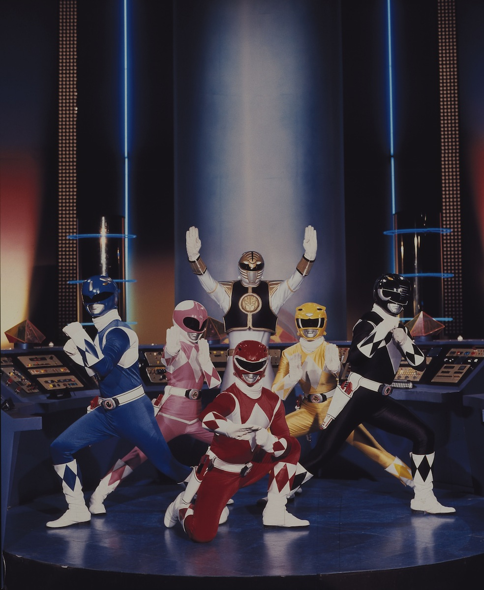 A scene from the  Mighty Morphin Power Rangers  TV show