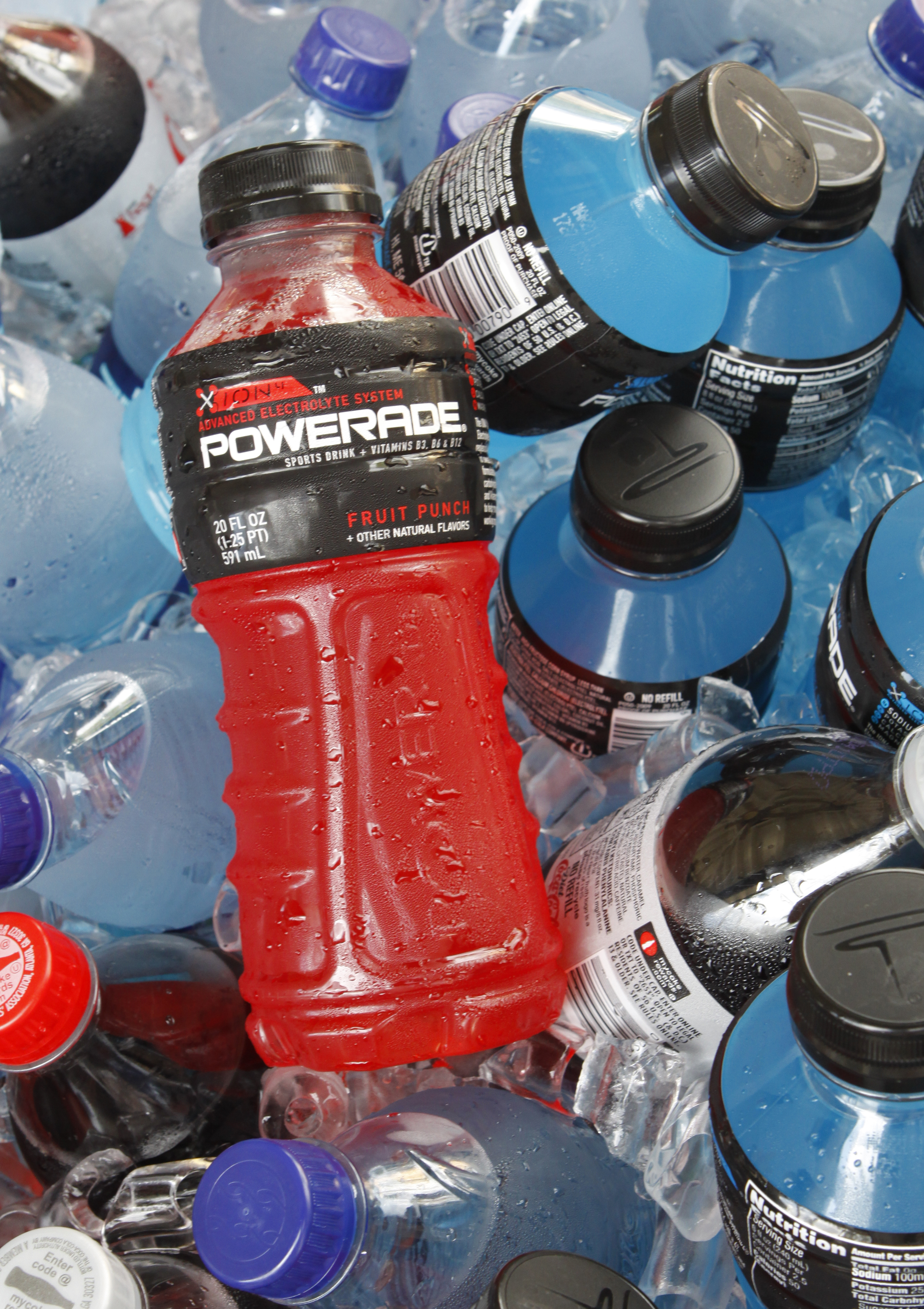 Bottles of Powerade and other Coca-Cola products in Orlando on Aug. 5, 2010.