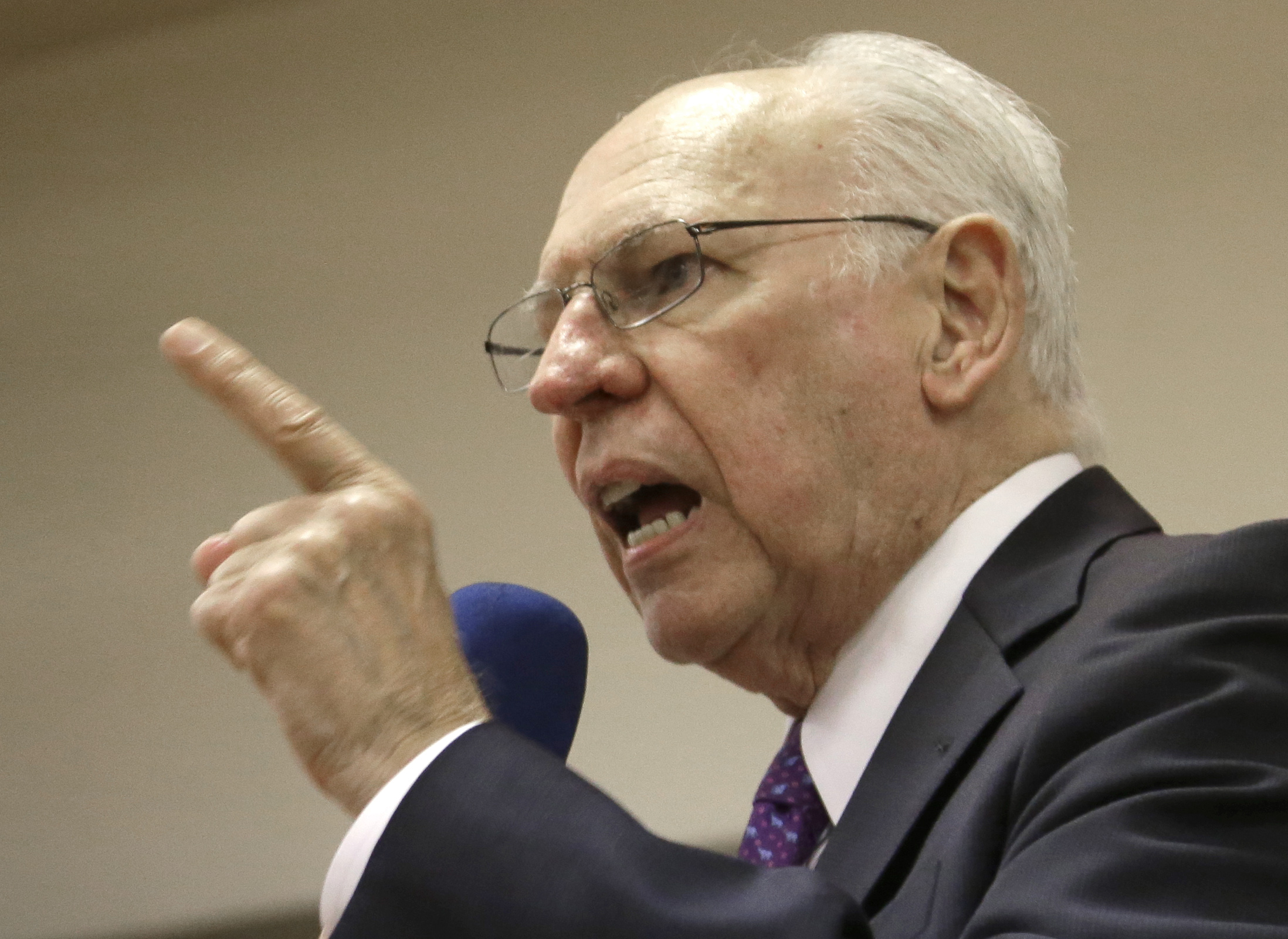 Rafael Cruz speaks during a tea party gathering on Jan. 10, 2014, in Madisonville, Texas.