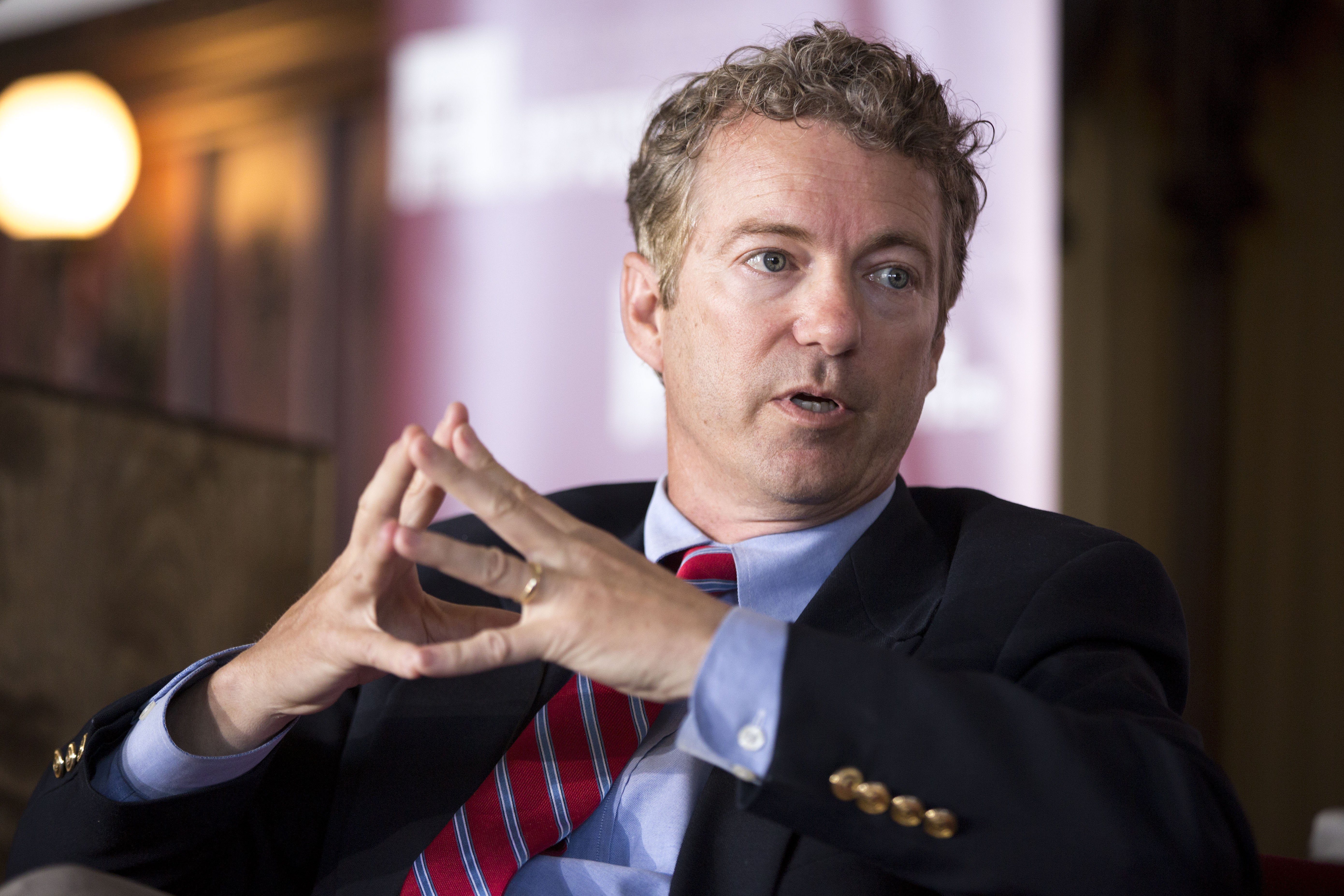 Sen. Rand Paul, R-Ky., speaks during an event at the University of Chicago's Ida Noyes Hall in Chicago on April 22, 2014.