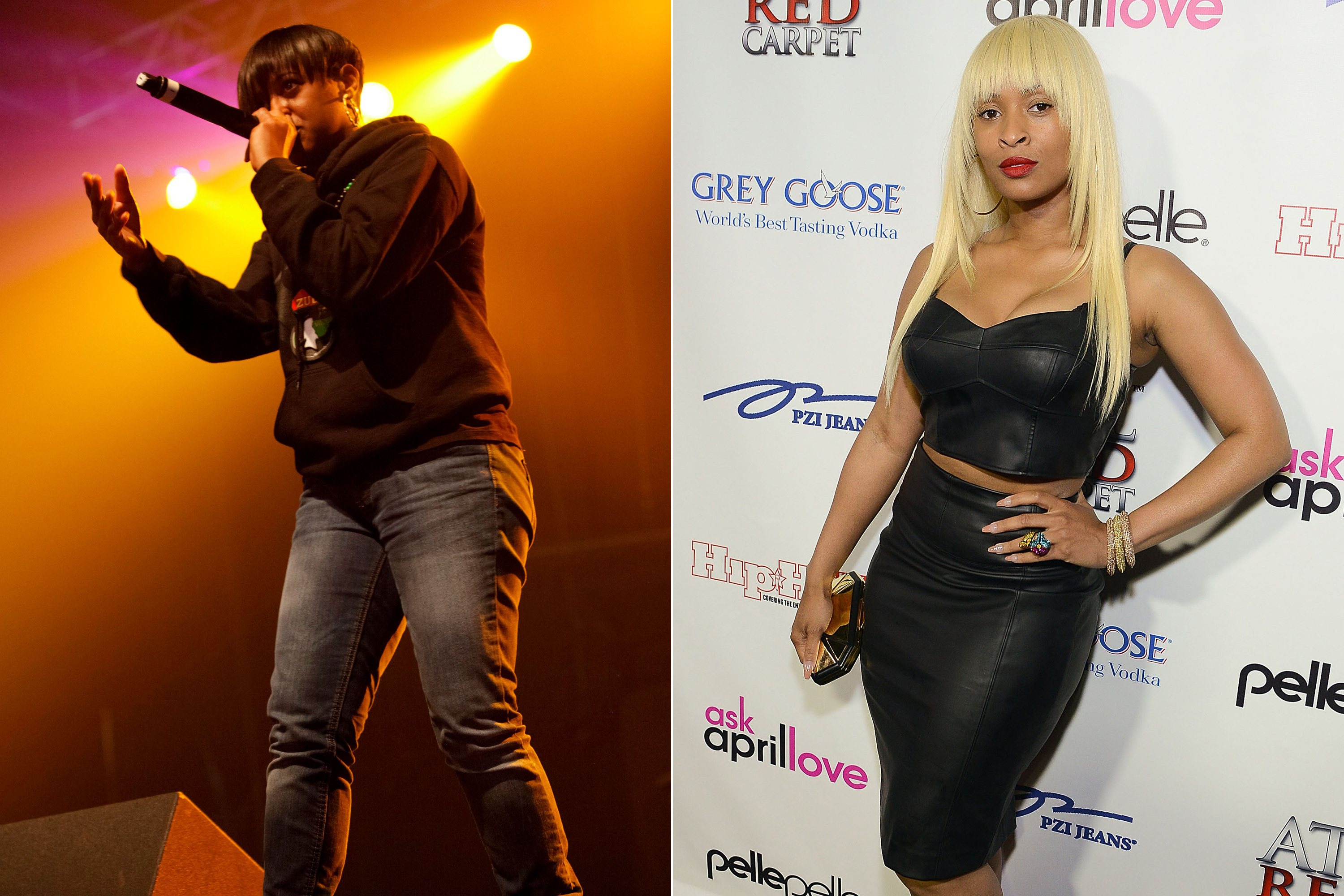 Rapsody, left, and Tiffany Foxx