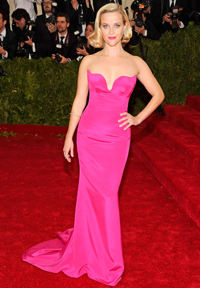 Reese Witherspoon attends The Metropolitan Museum of Art's Costume Institute benefit gala celebrating  Charles James: Beyond Fashion  on May 5, 2014, in New York City.