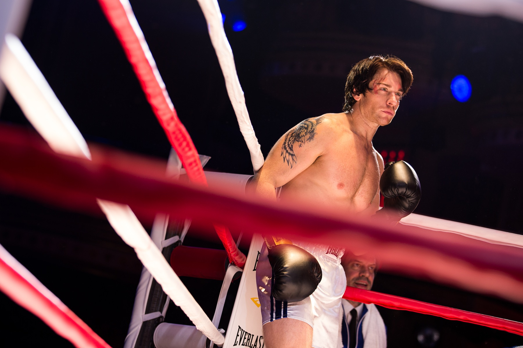 Andy Karl during a performance of  Rocky,  at the Winter Garden Theatre in New York