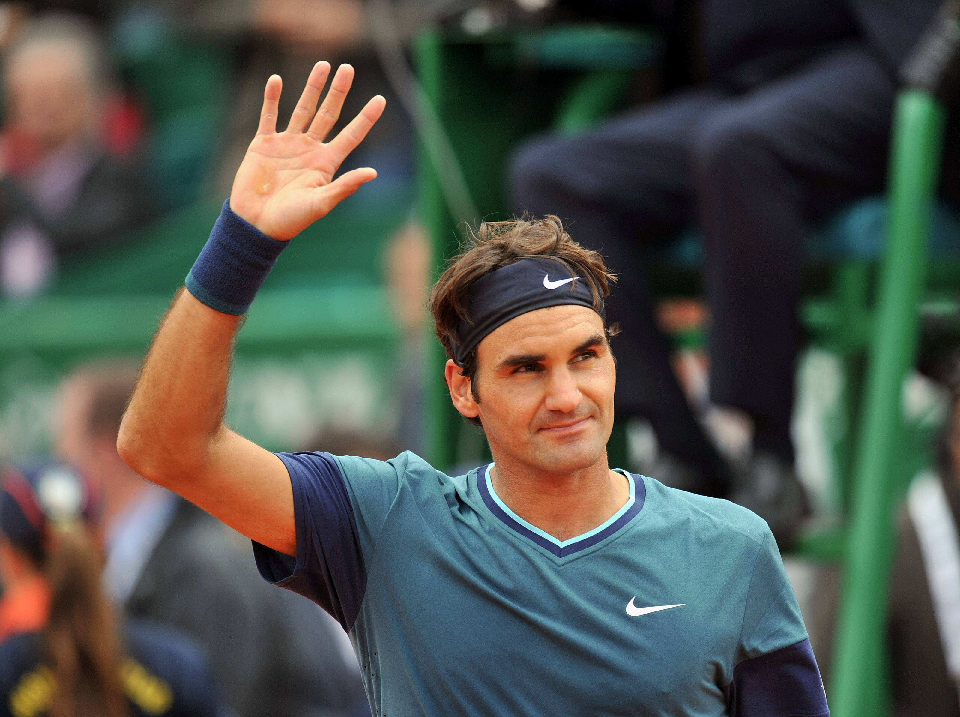 Roger Federer at the Monte Carlo Rolex Masters, April 16, 2014.