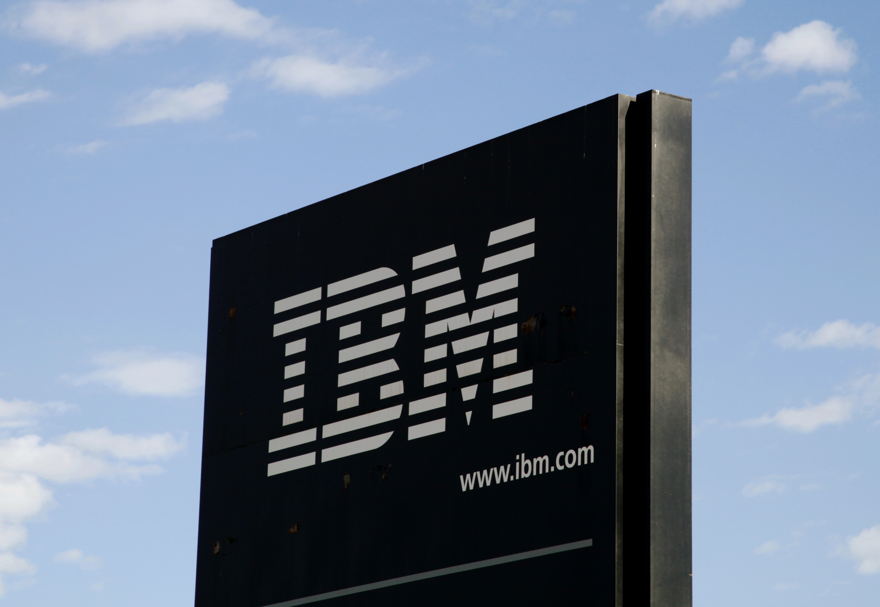 The sign at the IBM facility near Boulder, Colo.