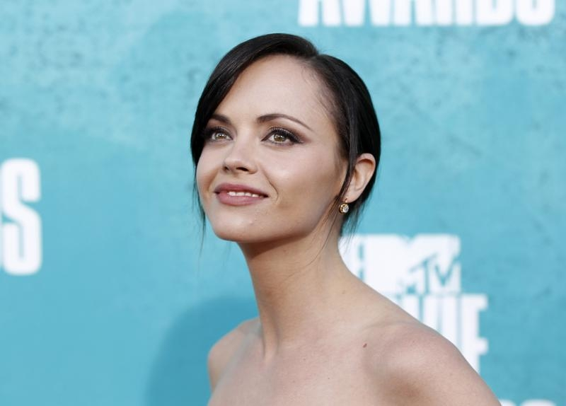Actress Christina Ricci arrives at the MTV Movie Awards in Los Angeles on June 3, 2012.