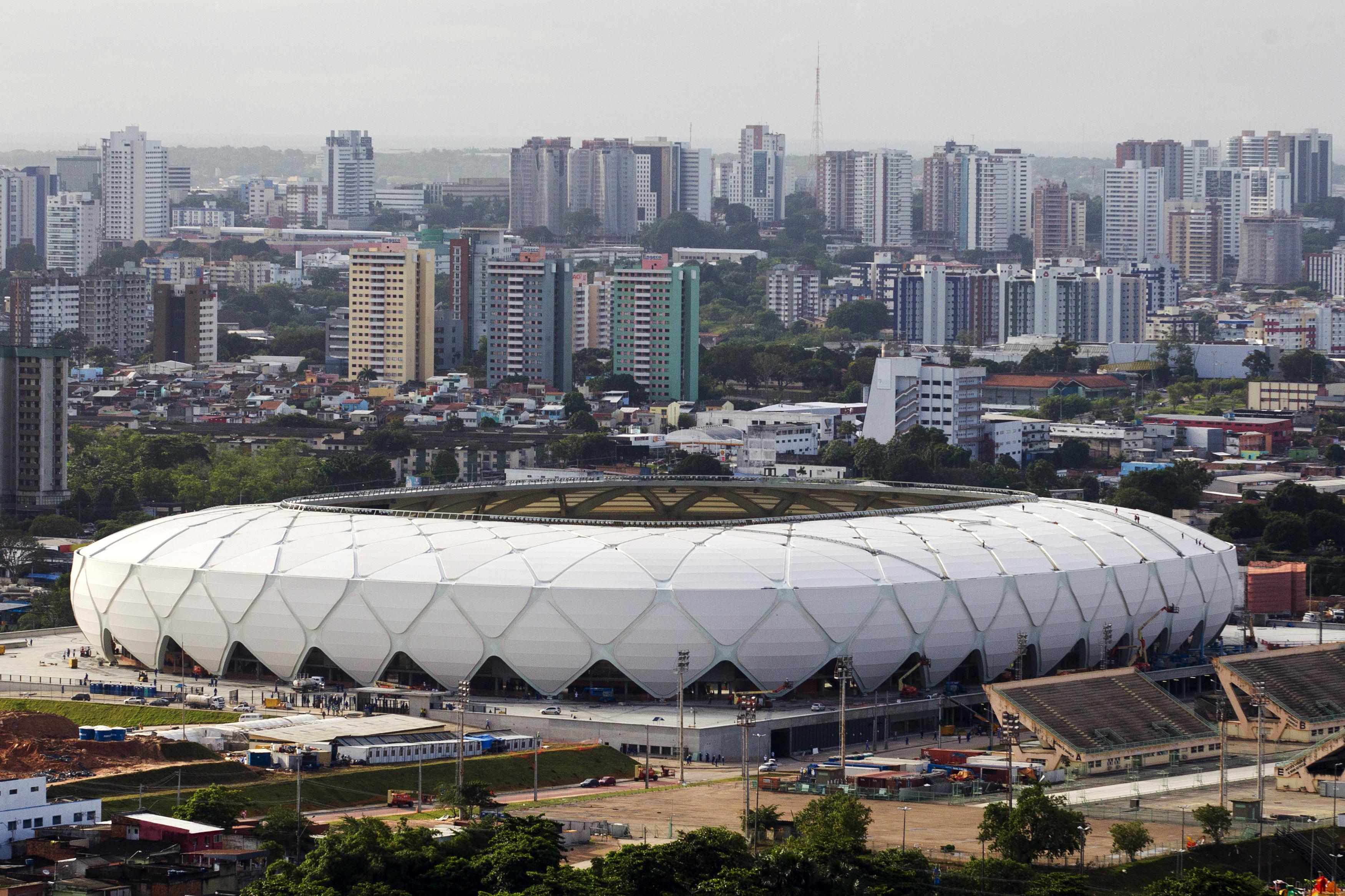 Arena Amazonia                                                              City: Manaus                                                              Constructed: 2013                                                              Capacity: 39,100