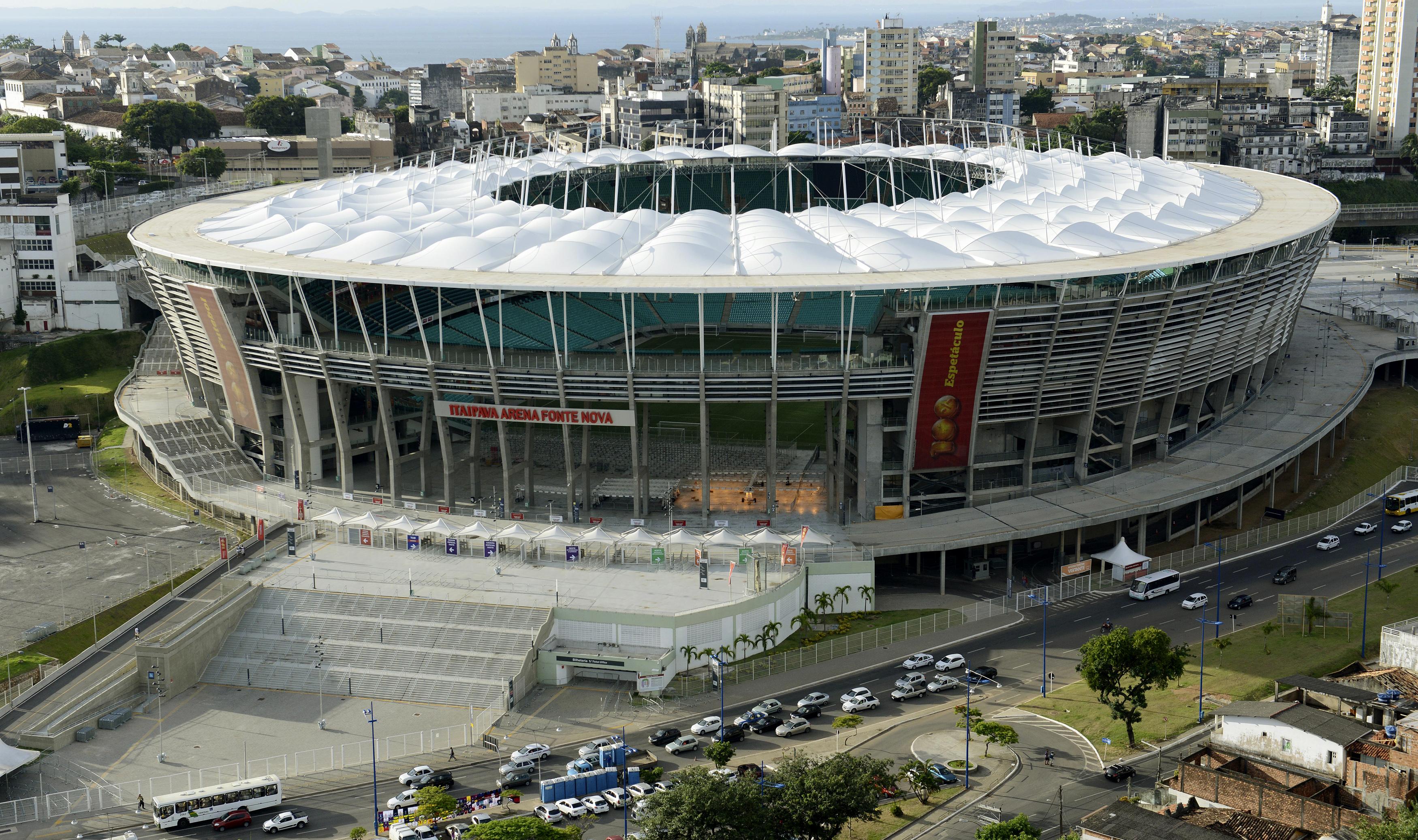 Arena Fonte Nova                                                              City: Salvador                                                              Constructed: 1951                                                              Capacity: 51,700
