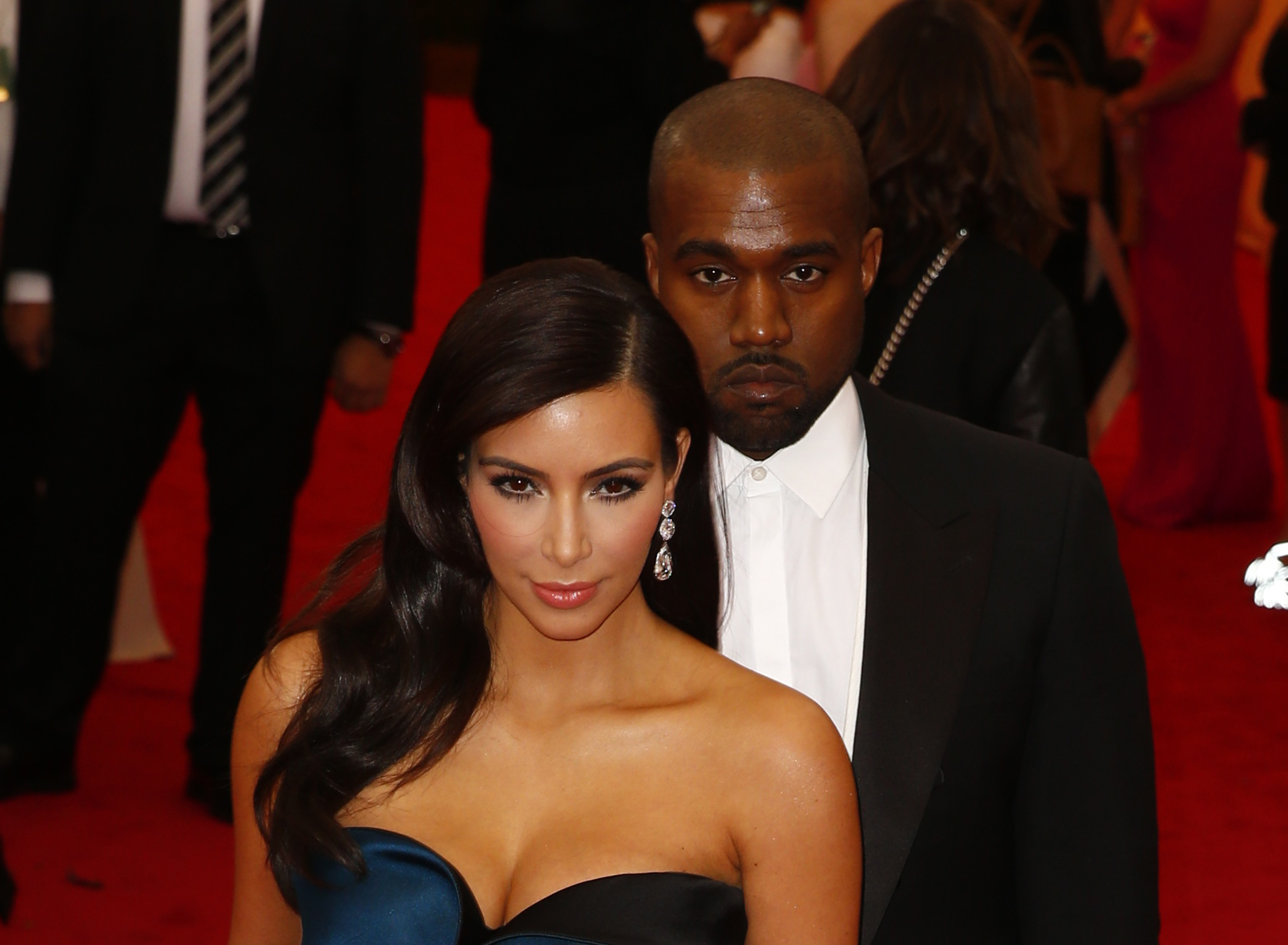 Kim Kardashian and Kanye West arrive at the Metropolitan Museum of Art Costume Institute Gala Benefit celebrating the opening of  Charles James: Beyond Fashion  in Upper Manhattan, New York, May 5, 2014.