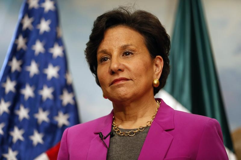 Penny Pritzker, U.S. Secretary of Commerce, listens to a question during an interview with Reuters in Mexico City on Feb. 4, 2014