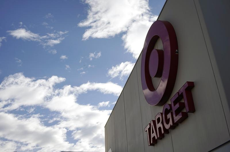 The sign outside a Target store is seen in Arvada, Colo., on Feb. 14, 2014