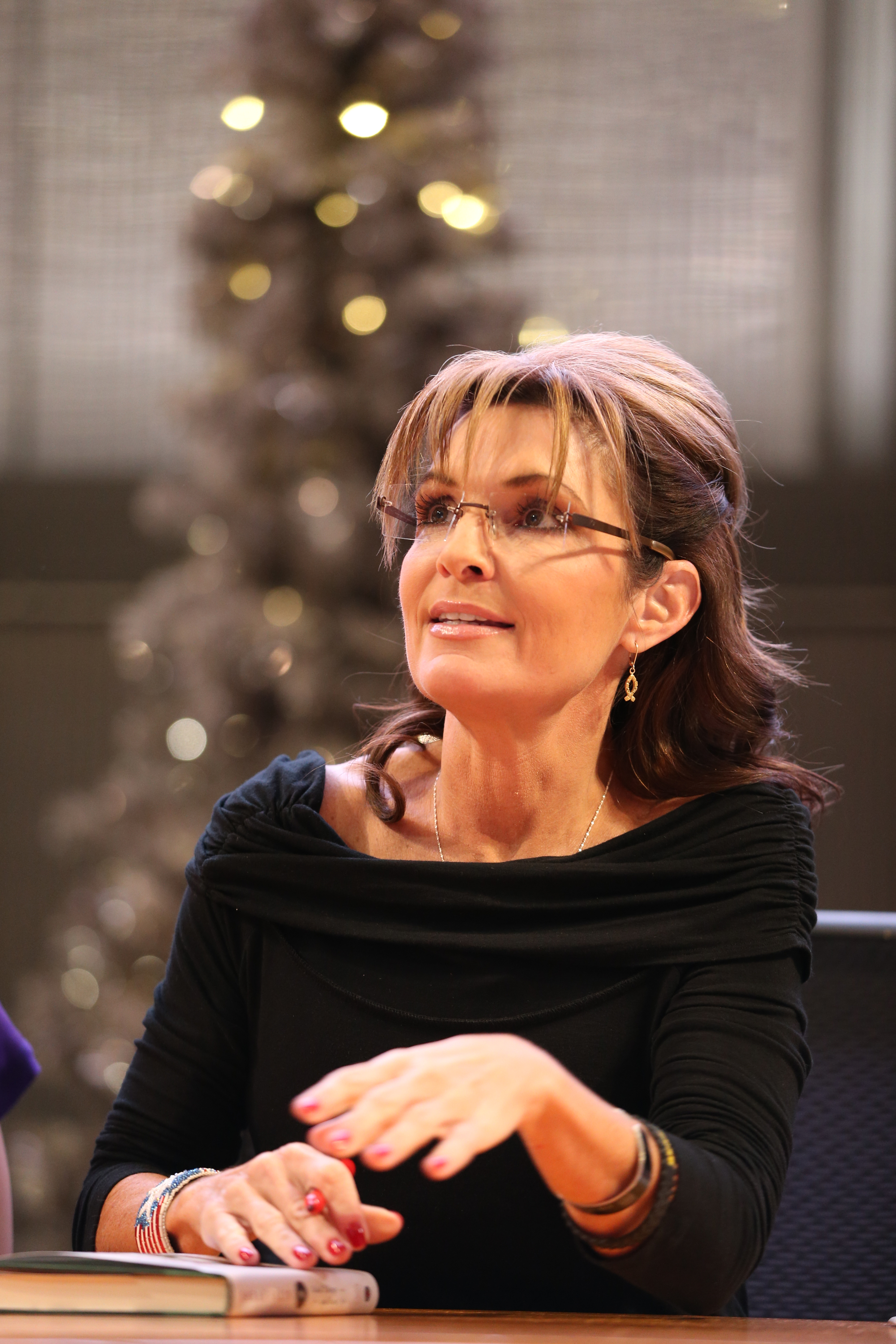 Sarah Palin signs copies of her new book  Good Tidings and Great Joy: Protecting the Heart of Christmas  on Nov. 21, 2013 at Mall of America in Bloomington, Minn.