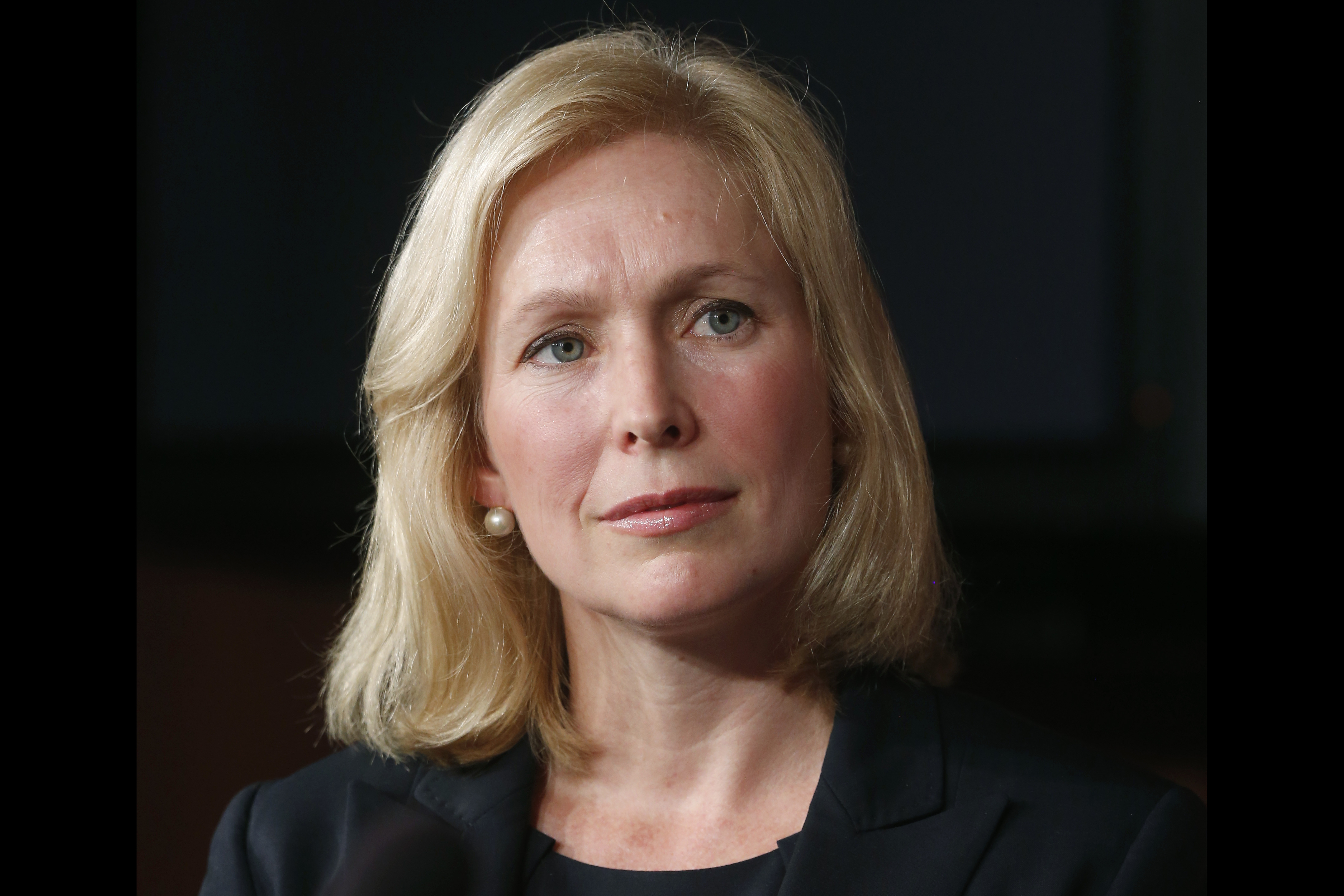 Senator Kirsten Gillibrand at a news conference about a bill regarding military sexual assault cases on Capitol Hill in Washington on July 16, 2013.