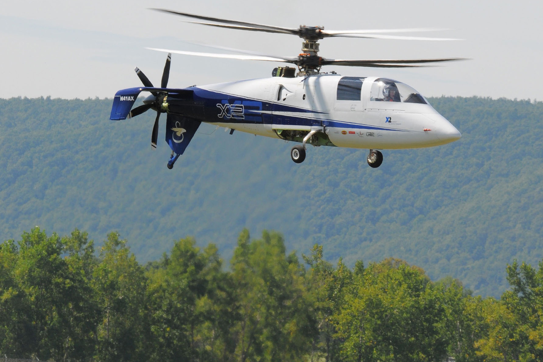 The first flight of the Sikorsky's X2 Technology Demonstrator.