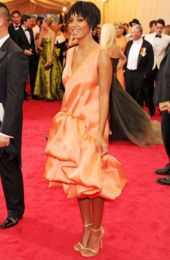Solange Knowles attends The Metropolitan Museum of Art's Costume Institute benefit gala celebrating  Charles James: Beyond Fashion  on May 5, 2014, in New York City.