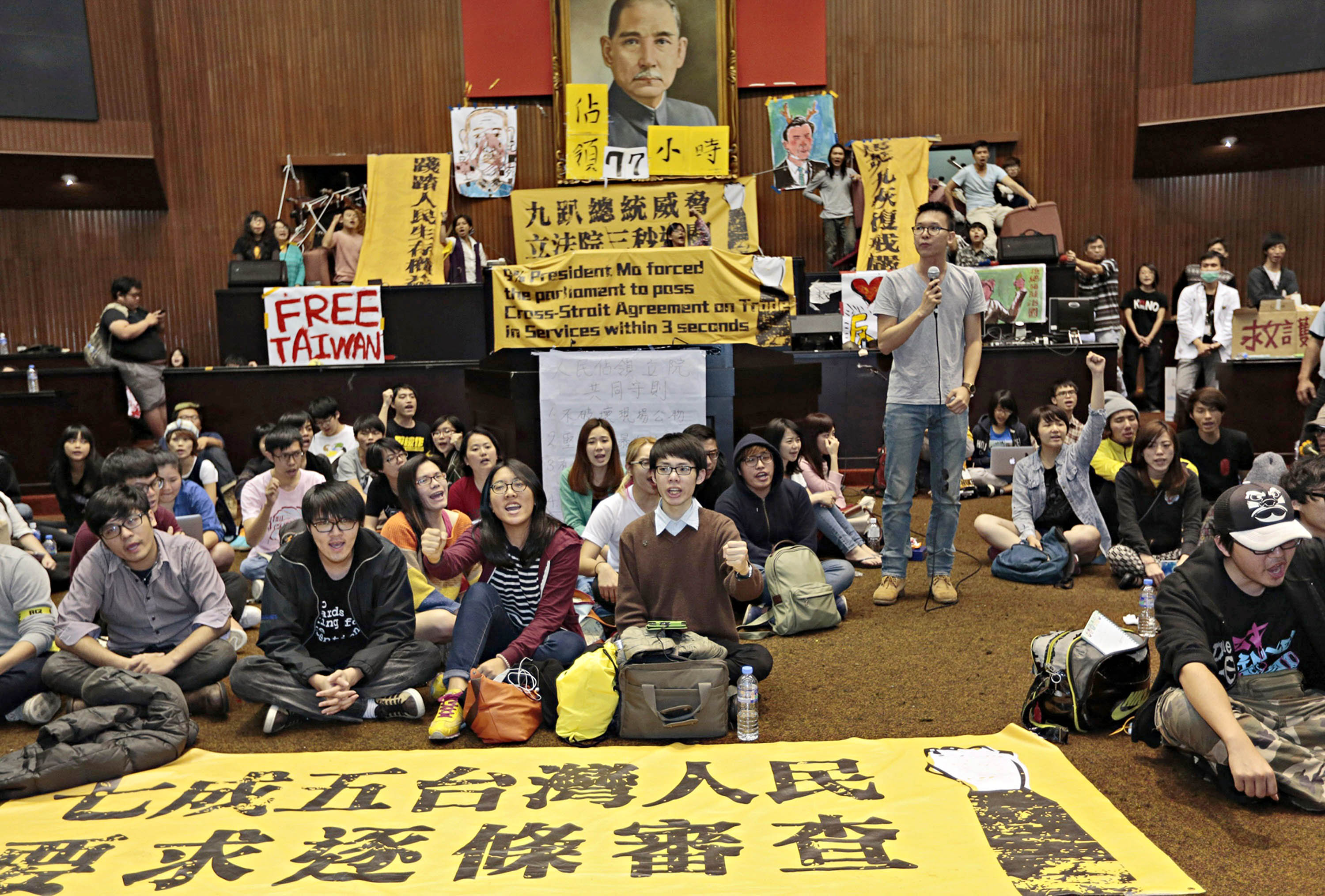 Occupy Taipei                        Students camped out in Taiwan's legislature in March to express their opposition to a new trade agreement with China
