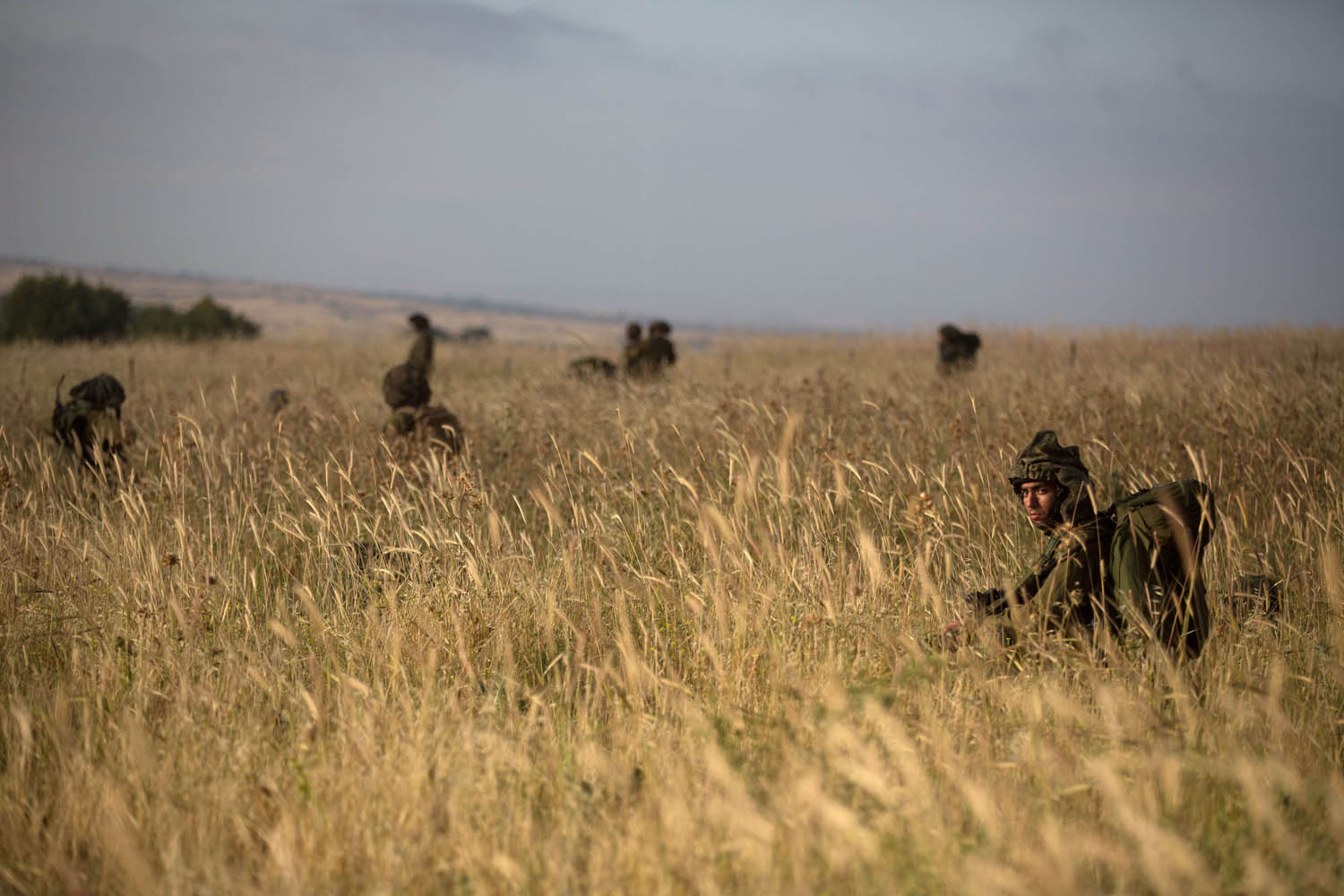 May 19, 2014.                               Israeli soldiers of the Ultra-Orthodox battalion  Netzah Yehuda  take part in their annual unit training in the Israeli annexed Golan Heights, near the Syrian border.