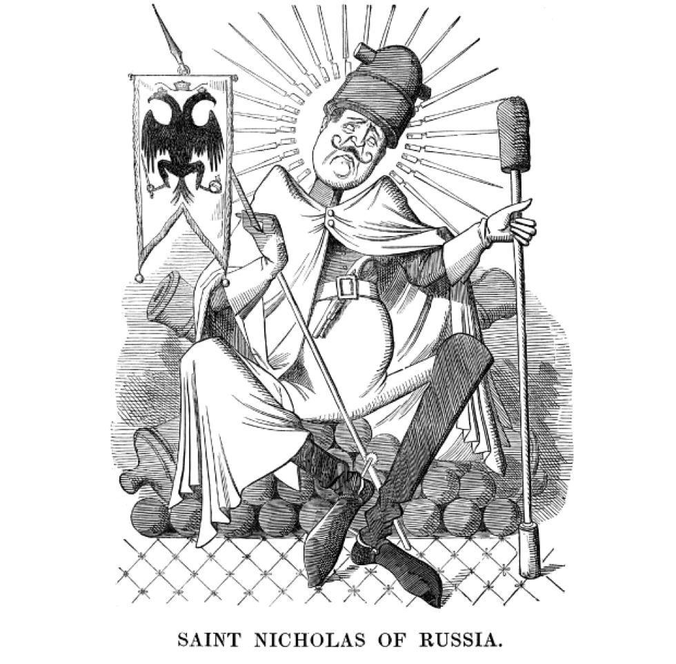 Illustration of Tsar Nicholas of Russia by Punch, 1854.