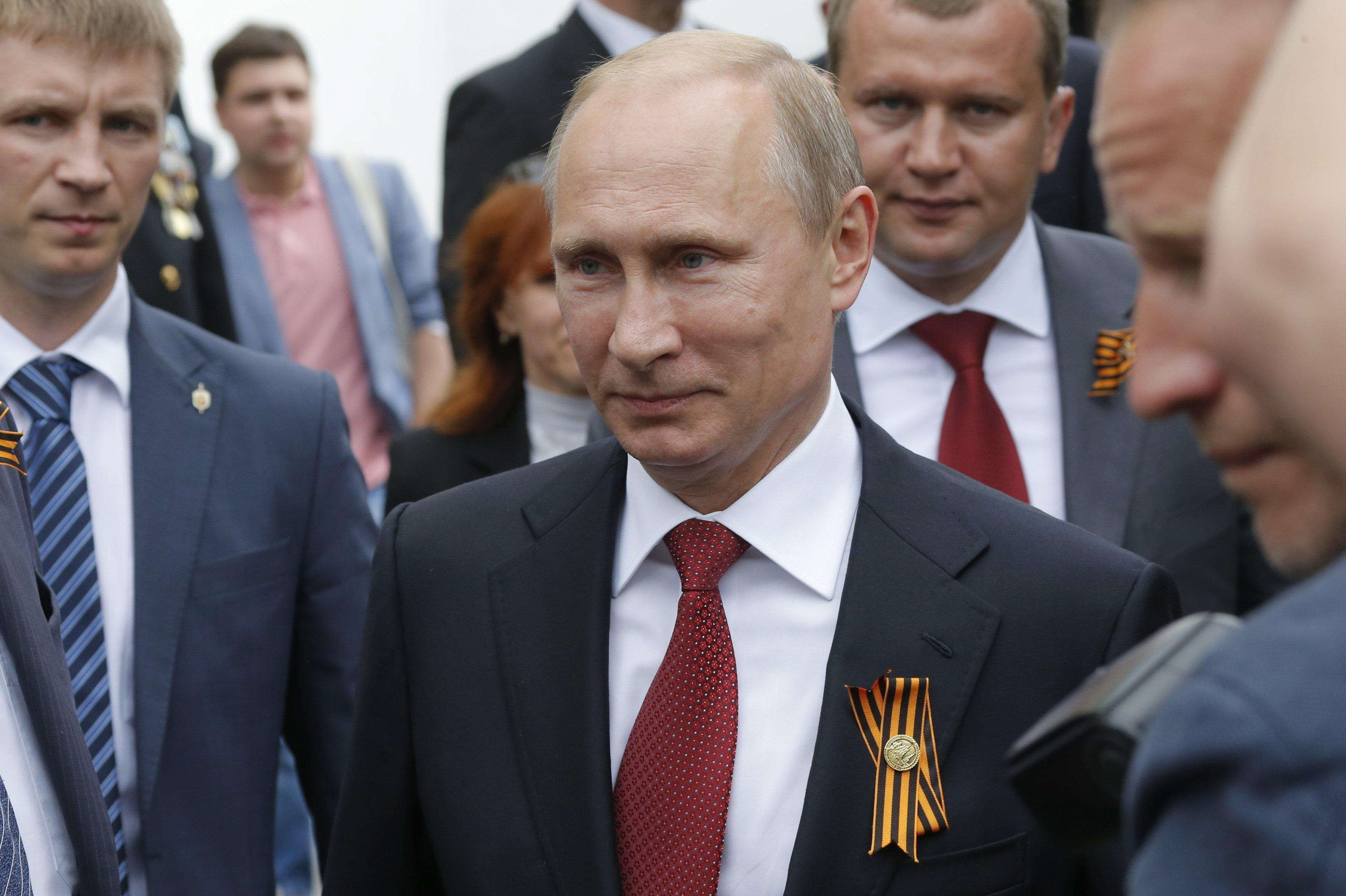 Russian President Vladimir Putin on Victory day in Sevastopol May 9, 2014.