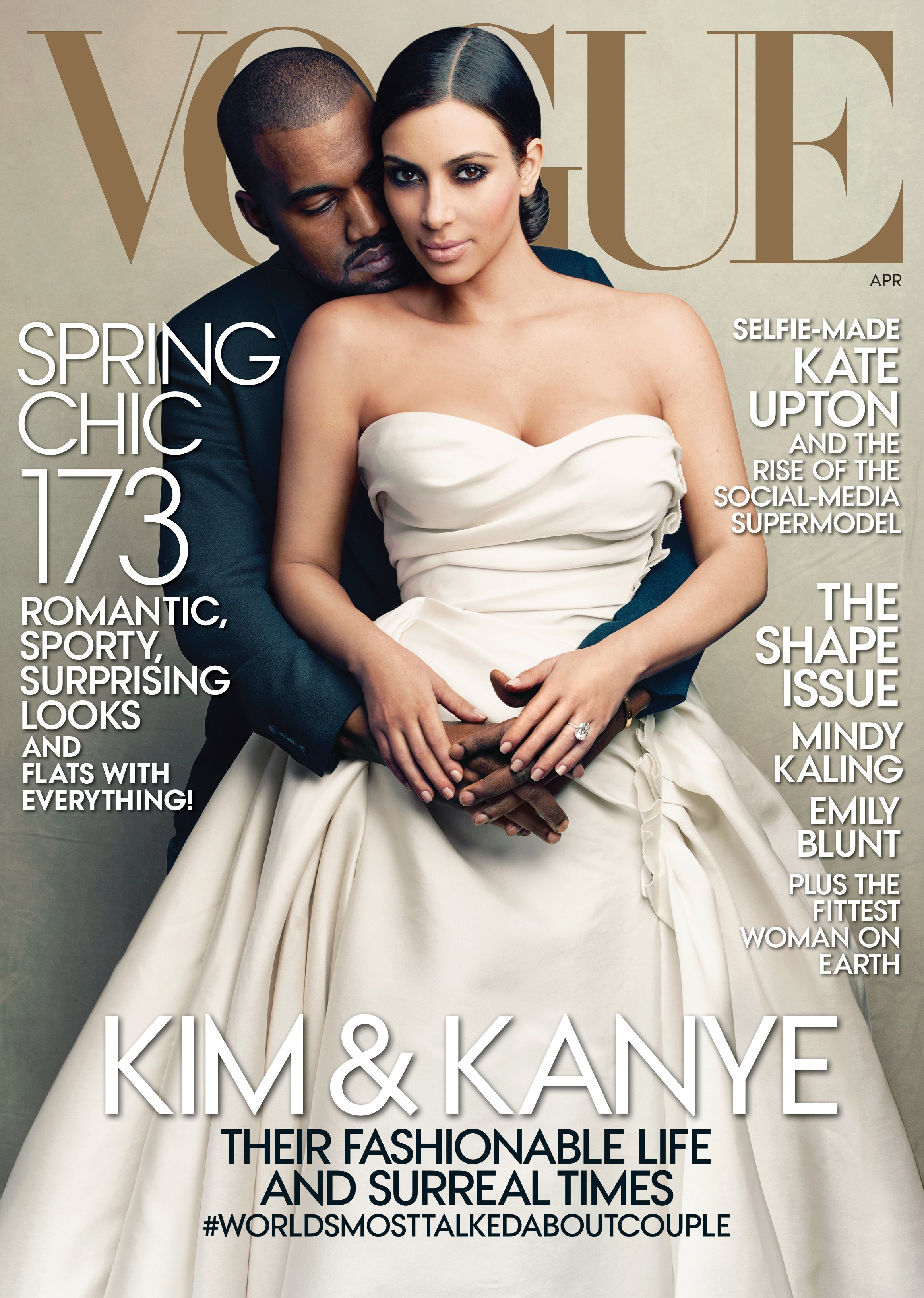 Kimye set their wedding date in March and celebrated on the cover of <i>Vogue</i>.
