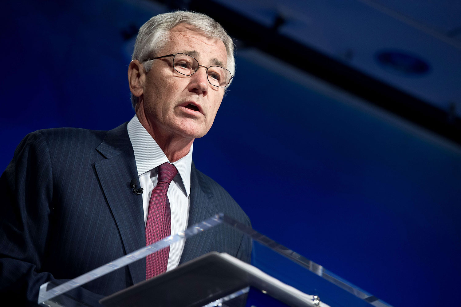 U.S. Defense Secretary Chuck Hagel speaks at the Wilson Center in Washington, D.C., on May 2, 2014.