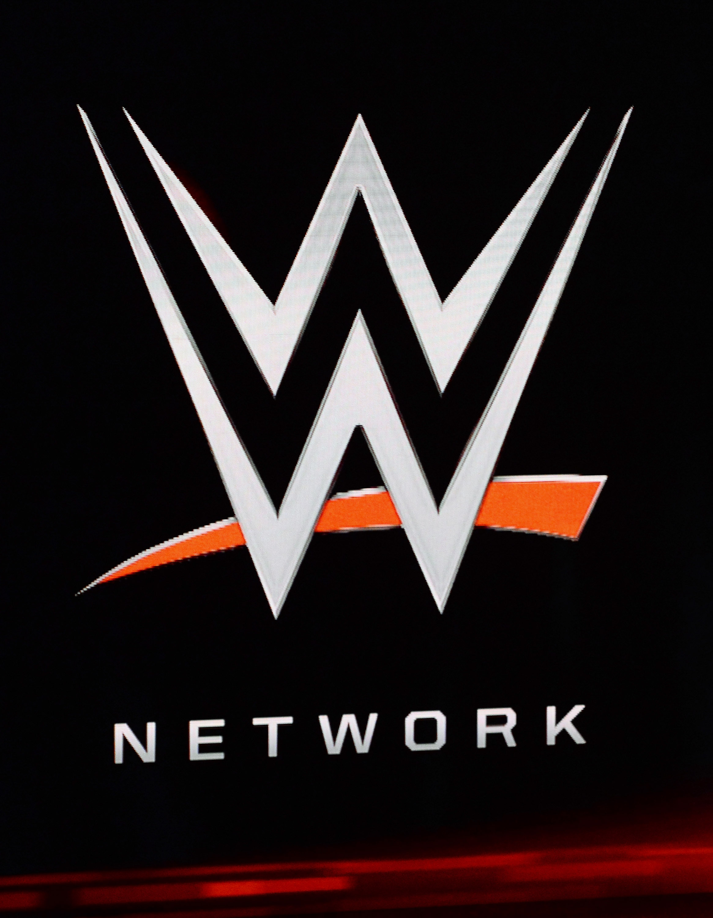 WWE Network logo at 2014 International CES at the Encore Theater at Wynn Las Vegas on Jan. 8, 2014 in Las Vegas.