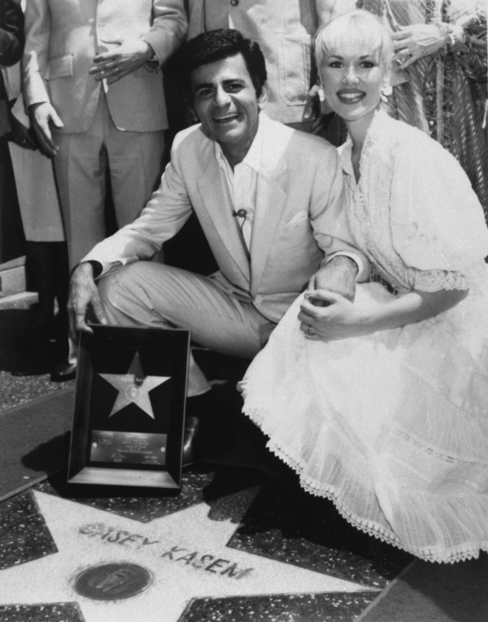 Casey Kasem and his wife Jean smile as he receives his own  Star  on the Hollywood Walk of Fame in Los Angeles, April 27, 1981.