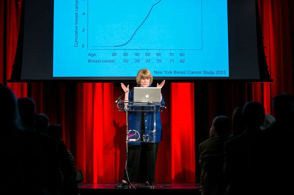 Mary Claire King presents at World Science Festival 2014 in New York City