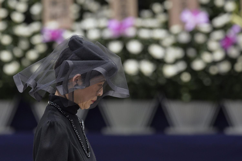 Jun. 17, 2014. Japan's Princess Tomohito of Mikasa attends a funeral service for Prince Katsura at Toshimagaoka cemetery in Tokyo, Japan.