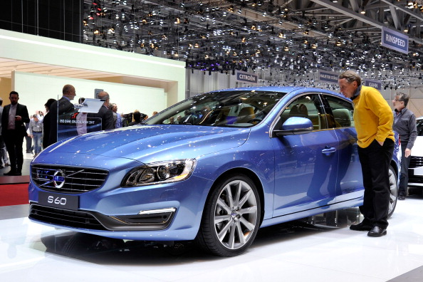 A Volvo S60 at the 2013 Geneva Motor Show in Geneva, Switzerland.