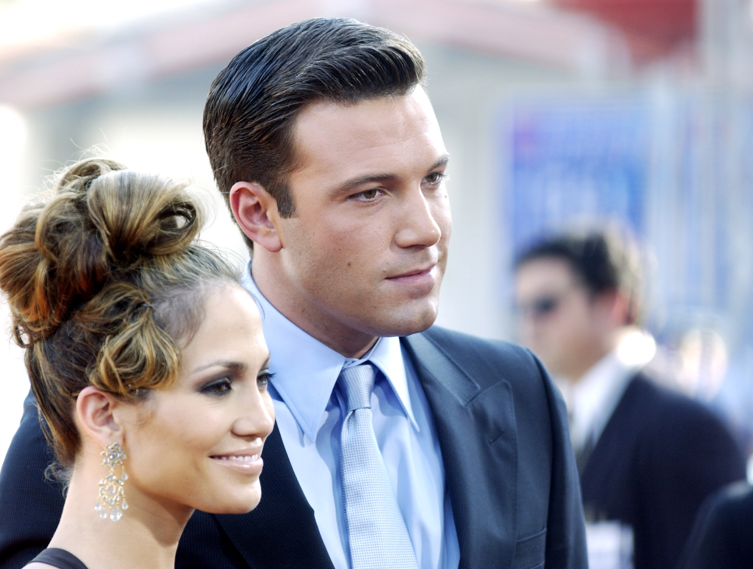 Jennifer Lopez and Ben Affleck at the  Gigli  California Premiere at Mann National in Westwood, California, United States.