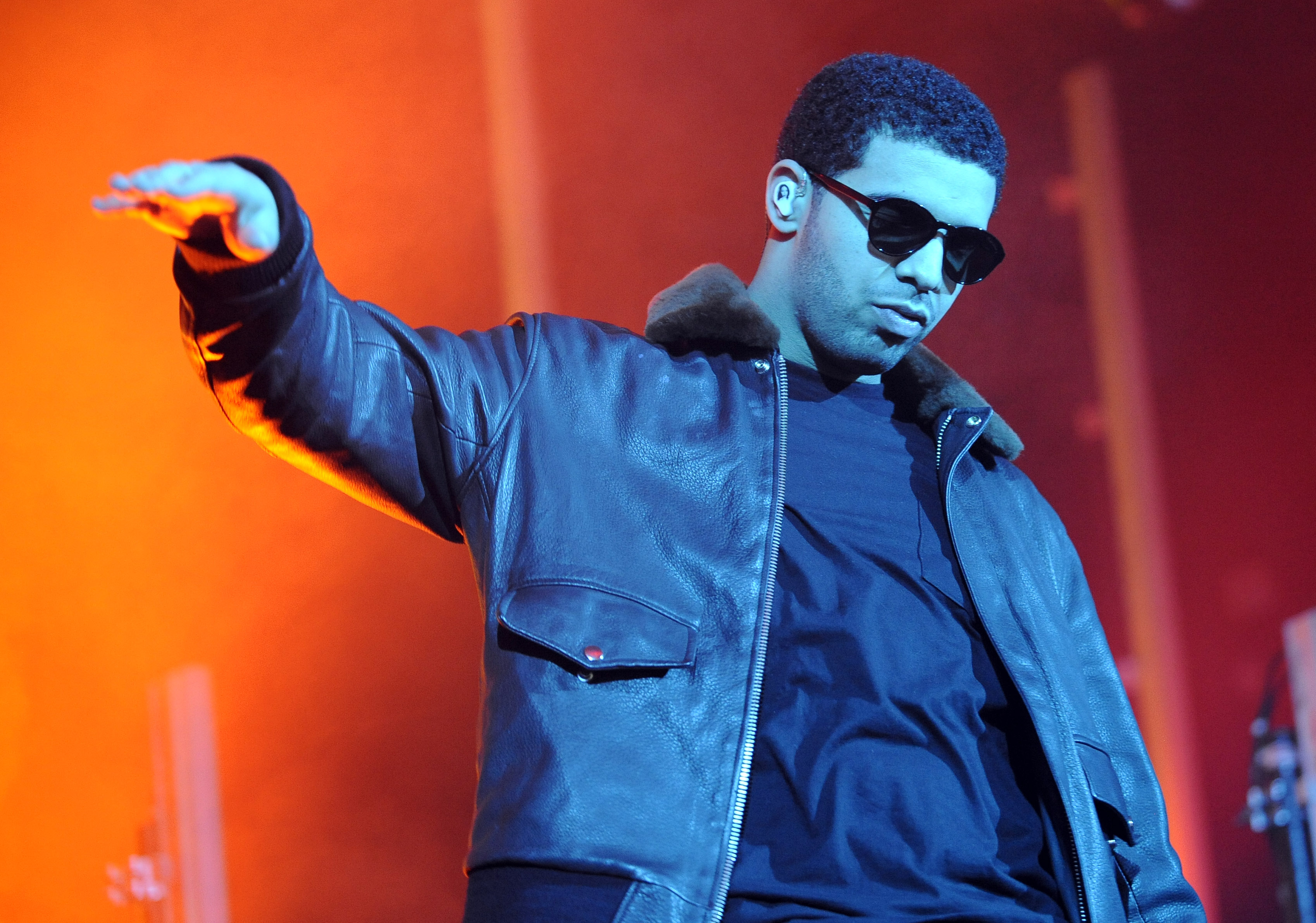 Canadian rapper Drake performs live on stage at the Carling O2 Academy on January 4, 2011 in Glasgow, Scotland.