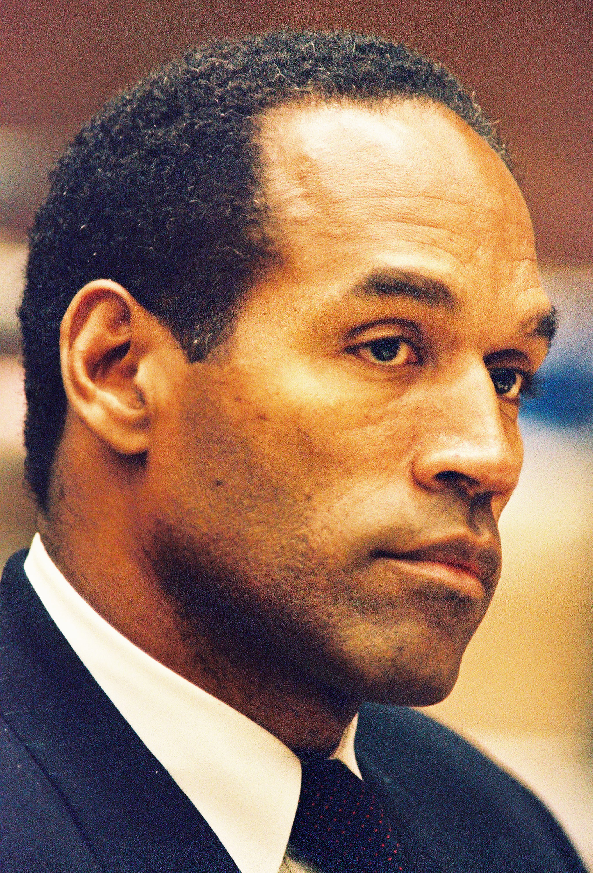 O.J. Simpson is shown during testimony in a preliminary hearing following the murders of his ex-wife Nicole Brown Simpson and her friend Ronald Goldman July 7, 1994 in Los Angeles. (Photo by Lee Celano/WireImage)
