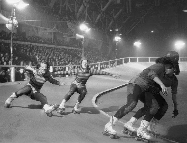 Women's Roller Derby, Chicago, 1948.