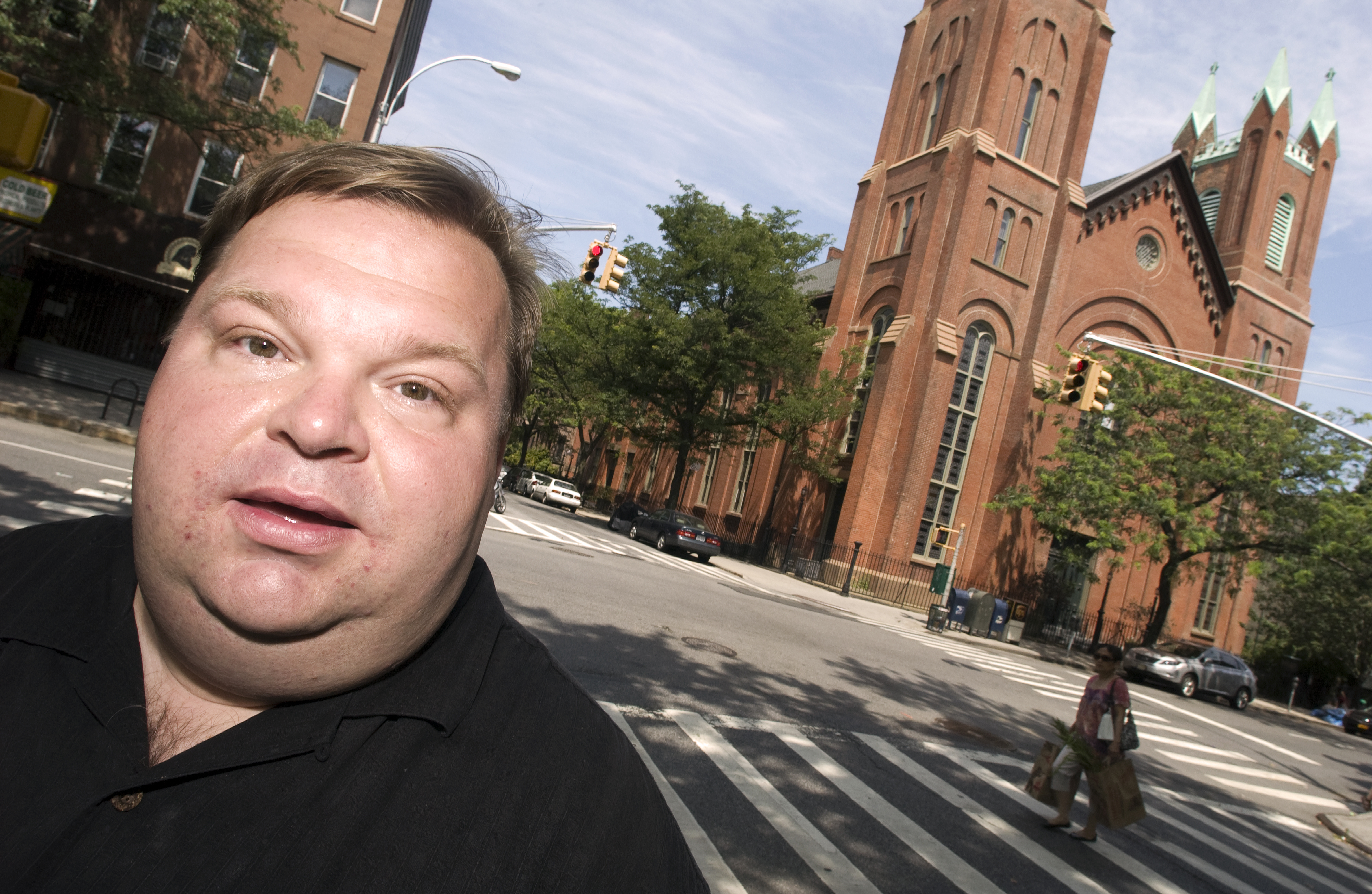 Mike Daisey photographed at Carroll Gardens Park in Brooklyn on July 9, 2012.