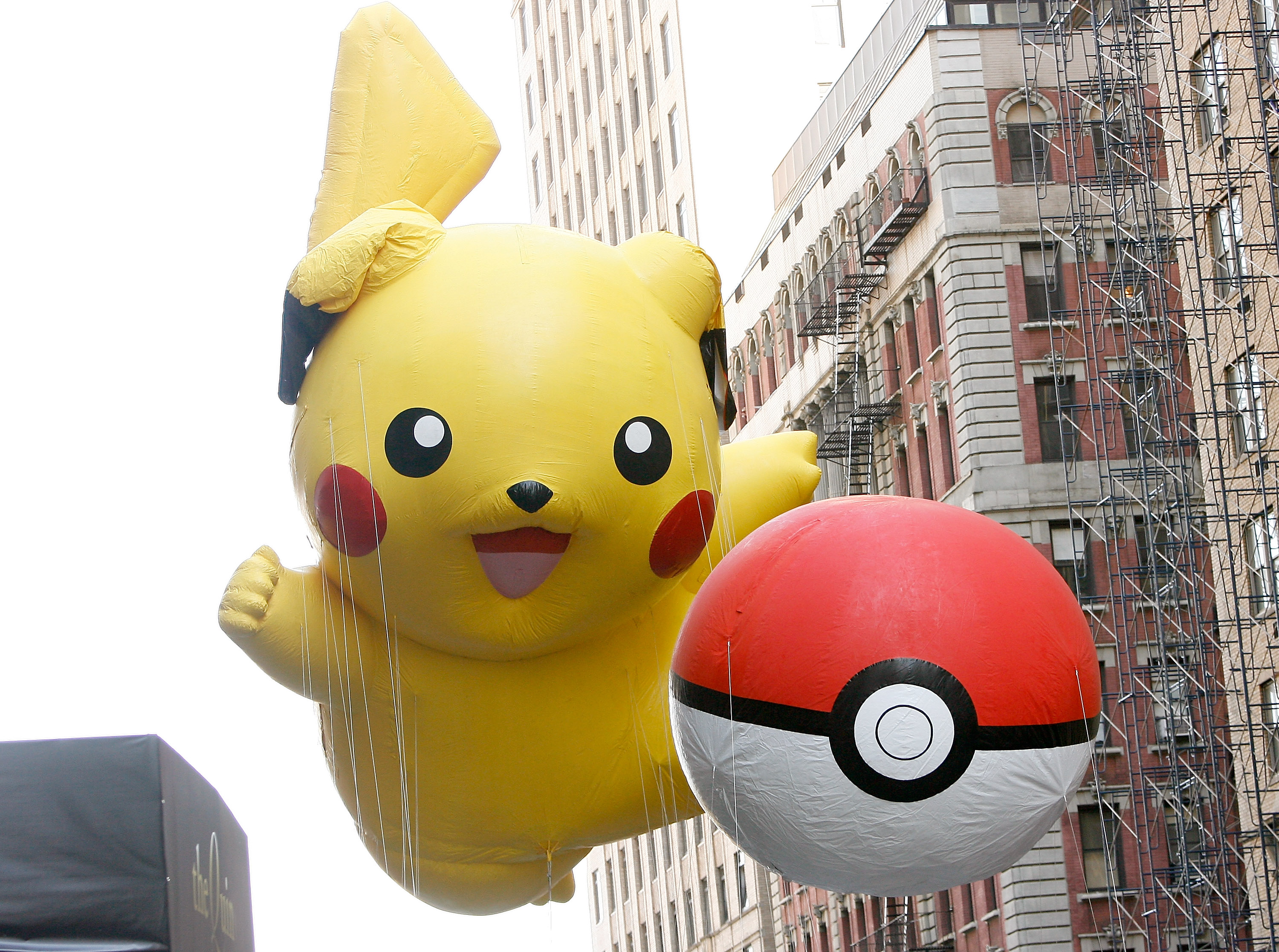 The Pikachu Pokemon balloons are seen during the 86th Annual Macy's Thanksgiving Day Parade