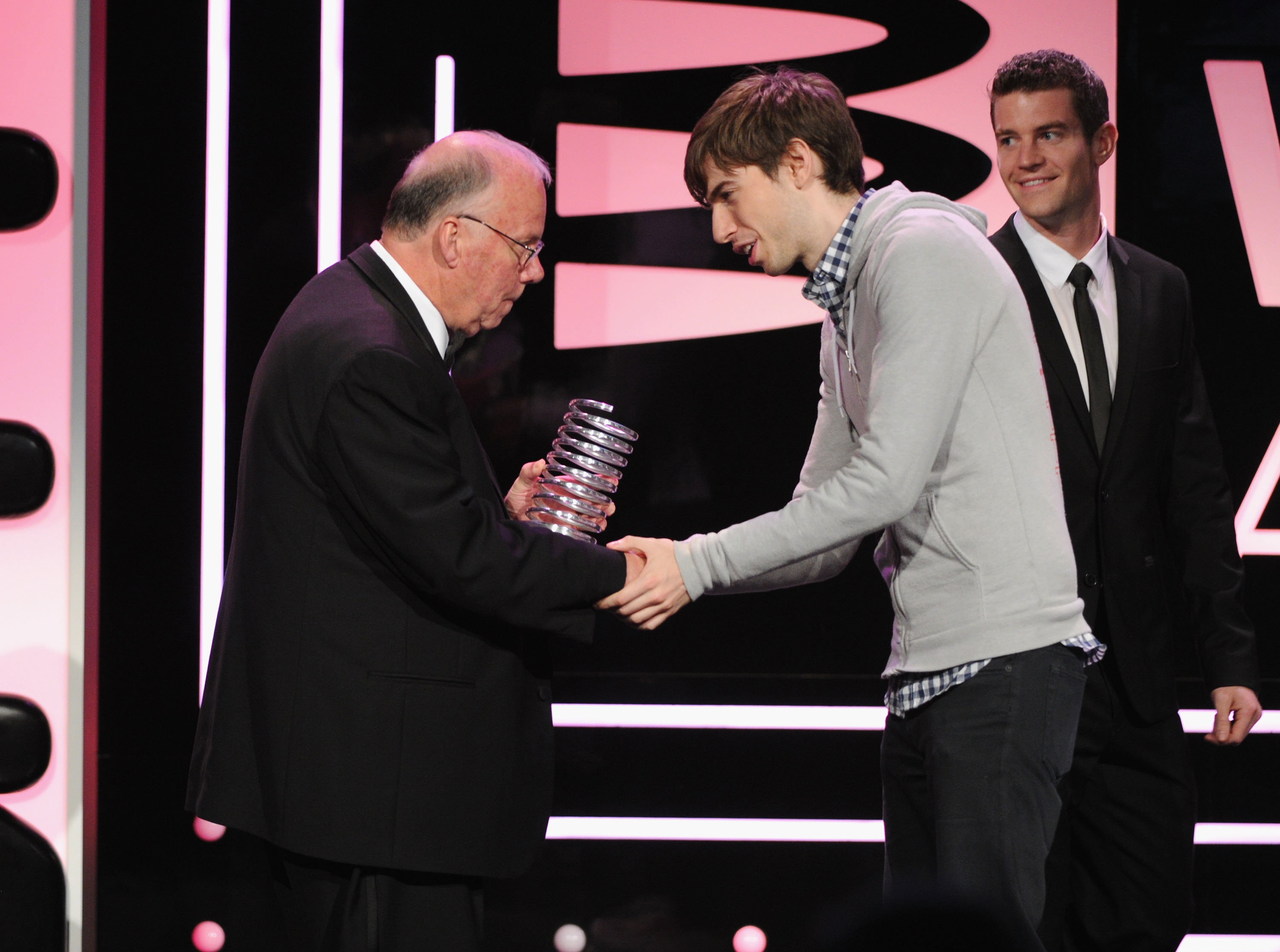 Steve Wilhite, inventor of the GIF file, receives an award at the 17th Annual Webby Awards  on May 21, 2013 in New York City.