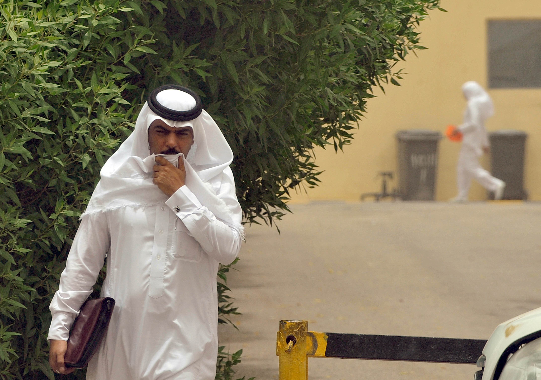 A Saudi man walks towards the King Fahad hospital in the city of Hofuf, 370 kms East of the Saudi capital Riyadh, on June 16, 2013.