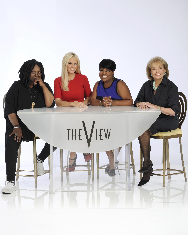 'The View' Season 17 with hosts Whoopi Goldberg, Jenny McCarthy, Sherri Shepherd and Barbara Walters.