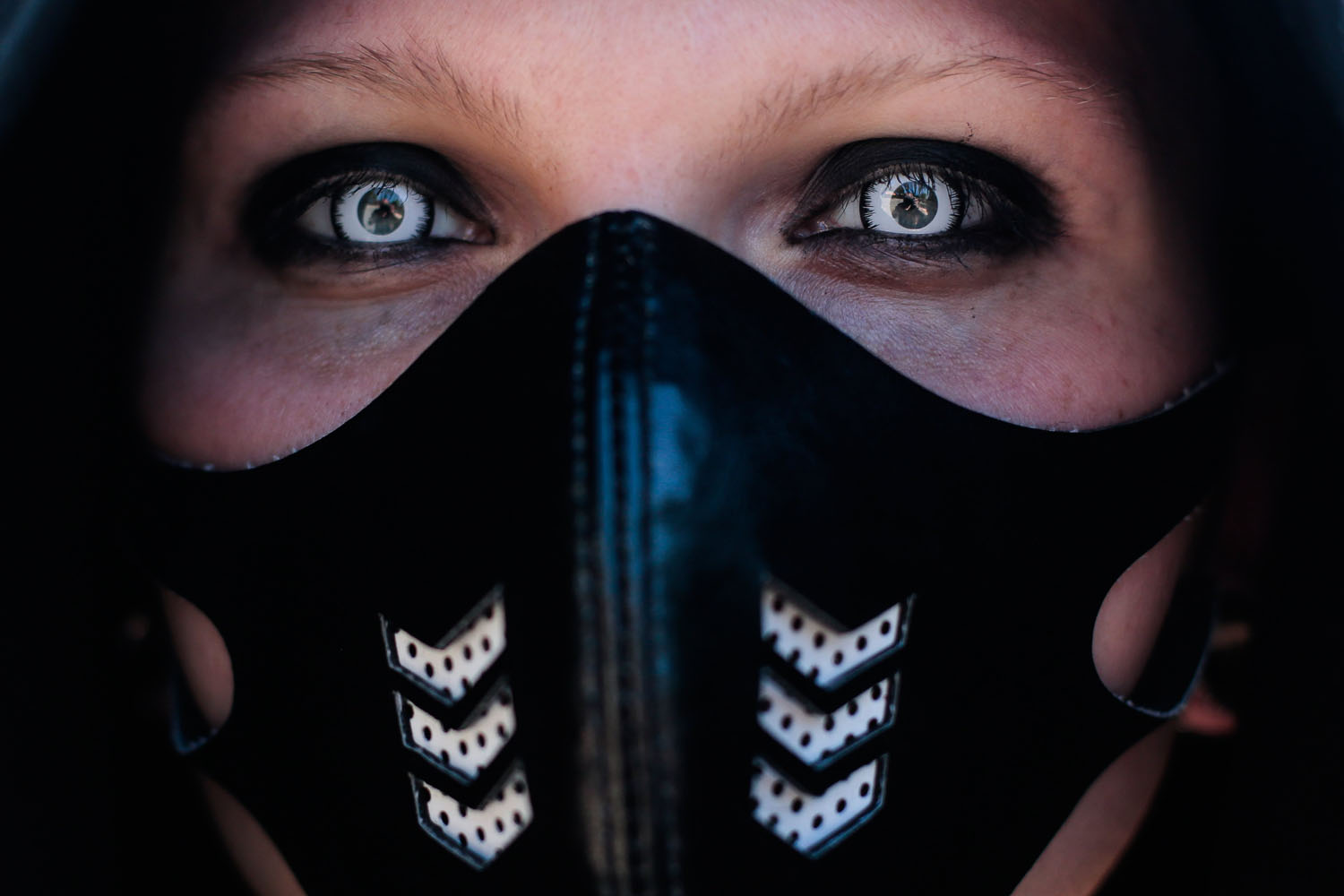 Jun. 6, 2014. A participant arrives at the Wave Gothic Festival in Leipzig, central Germany. About 20,000 members of  the Gothic scene from all over the world are expected to attend.