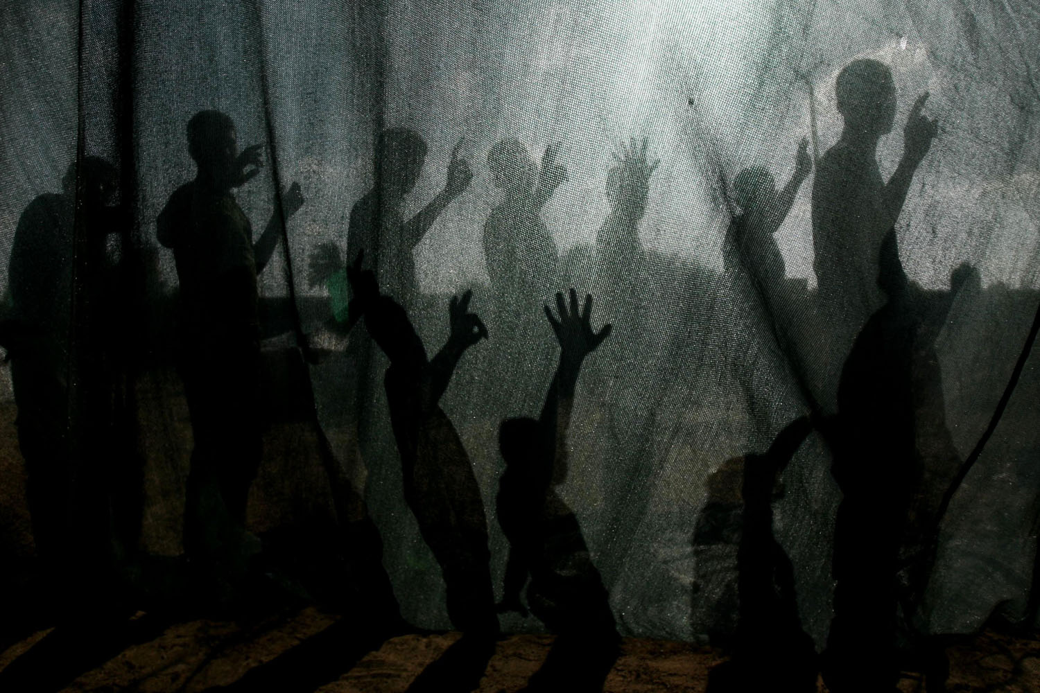 Jun. 9, 2014. Palestinian youths take part in a summer camp organized by the Hamas movement in Rafah, southern Gaza Strip.