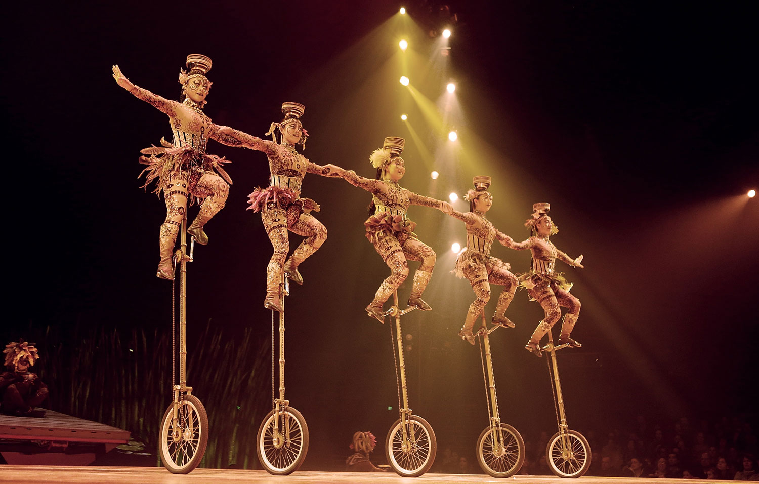 Cirque du Soleil performers at the  Cl's Totem  Dress Rehearsal at Citi Field on March 13, 2013 in New York City.