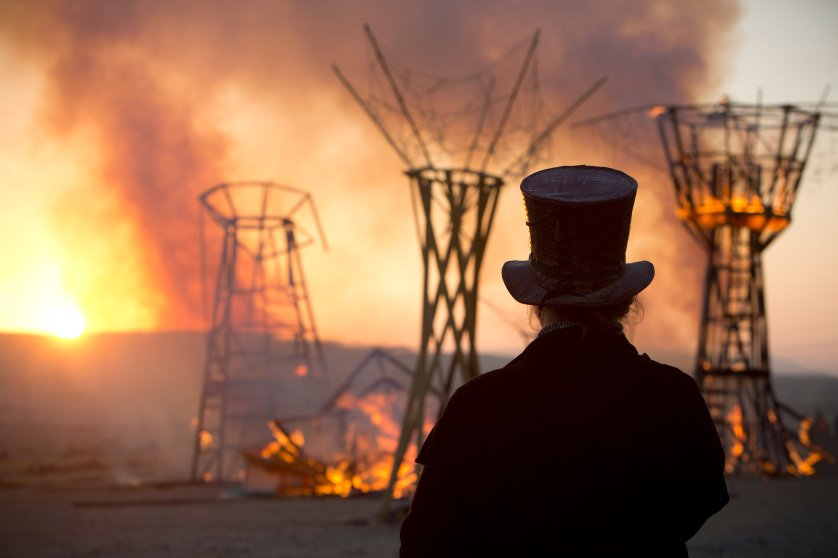 APTOPIX Mideast Israel Burning Man Photo Essay