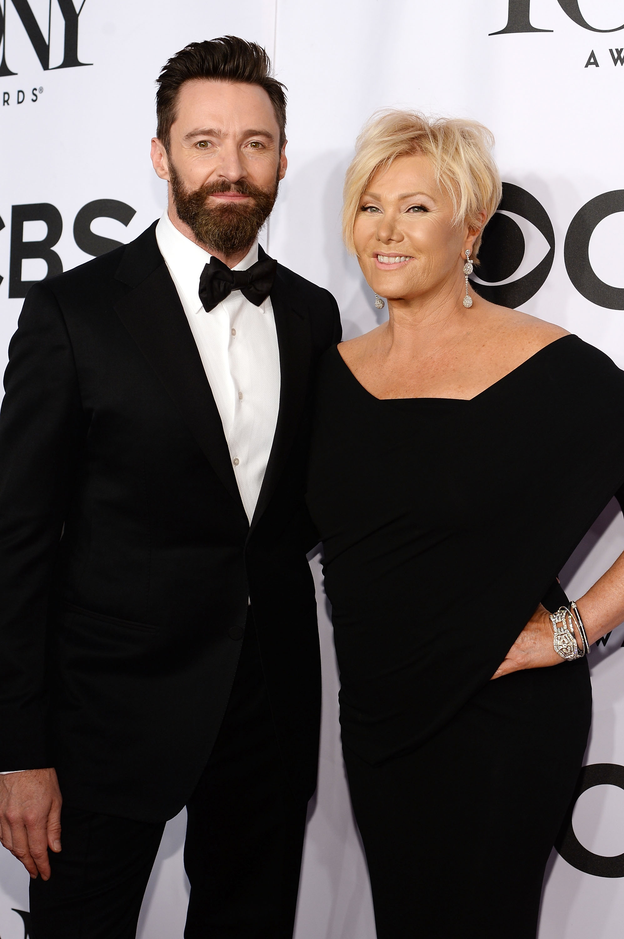 Host Hugh Jackman and Deborra-Lee Furness attend the 68th Annual Tony Awards at Radio City Music Hall on June 8, 2014 in New York City.